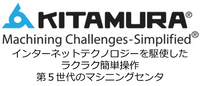 KITAMURA Machining Challenges-Simplified インターネットテクノロジーを駆使したラクラク簡単操作 第4世代のマシニングセンタ